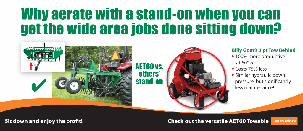 AET60 3 pt. towable vs. stand on aerators